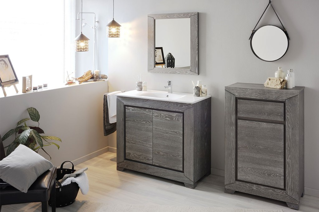 salle de bain gris bois of salle bain grise. Black Bedroom Furniture Sets. Home Design Ideas