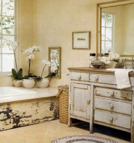 Photo armoire salle de bain vintage