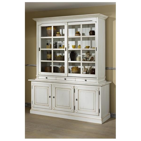buffet bas avec vitrine. Black Bedroom Furniture Sets. Home Design Ideas