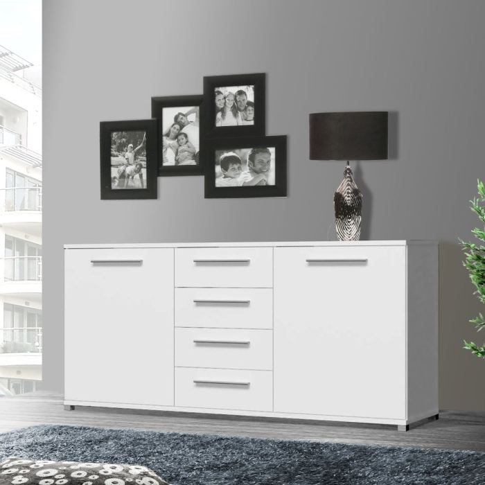 buffet bas blanc conforama. Black Bedroom Furniture Sets. Home Design Ideas
