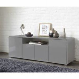 photo buffet bas gris but. Black Bedroom Furniture Sets. Home Design Ideas