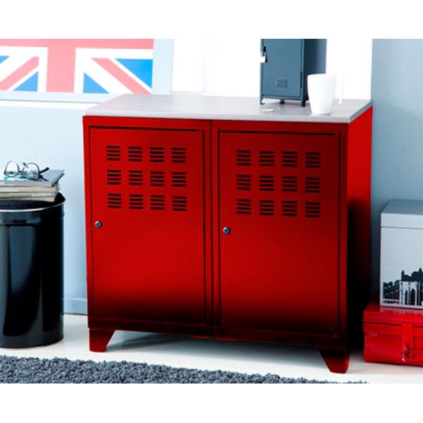 Pin meuble m tallique bas mobilier industriel quatre - Buffet bas style industriel ...