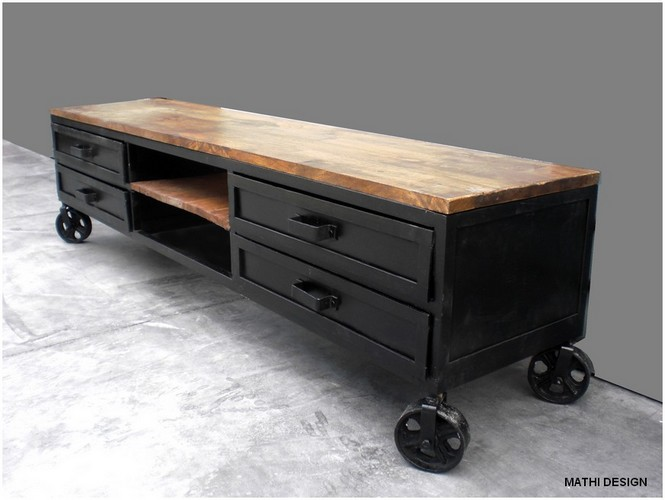 Mod le buffet bas metal industriel - Buffet bas industriel ...