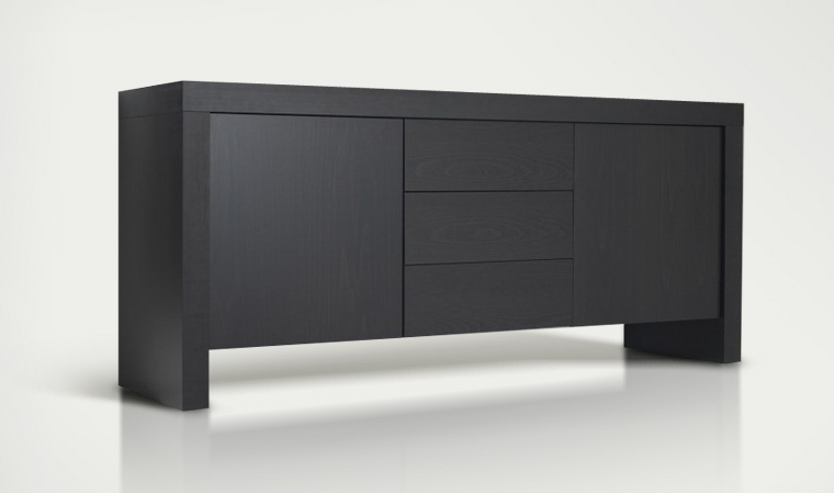 buffet bas moderne. Black Bedroom Furniture Sets. Home Design Ideas