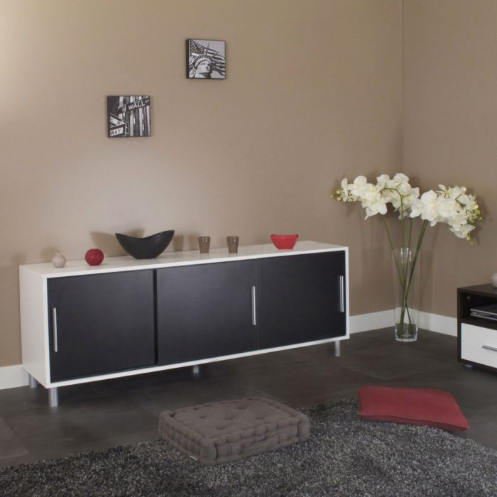 comparatif buffet bas moderne. Black Bedroom Furniture Sets. Home Design Ideas