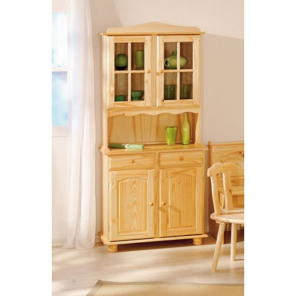Exemple buffet de cuisine pin massif for Buffet de cuisine haut