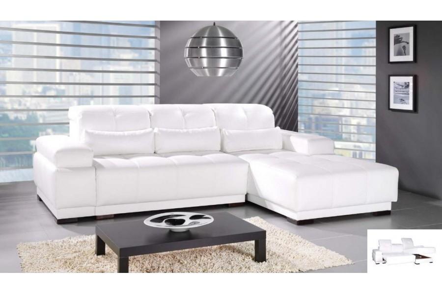Modèle Canape Dangle Blanc - Canape angle blanc