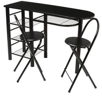 Table de cuisine haute avec rangement meuble cuisine - Table haute de cuisine avec rangement ...