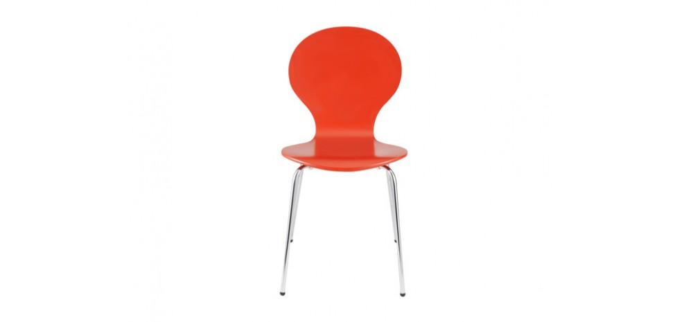 Mod le chaise de cuisine rouge en bois for Chaise de cuisine en bois