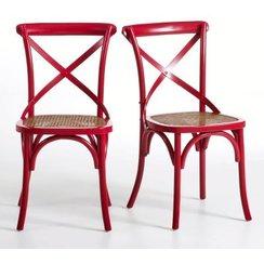 Chaise bistrot rouge cuisine - Chaises de cuisine pas cher ...