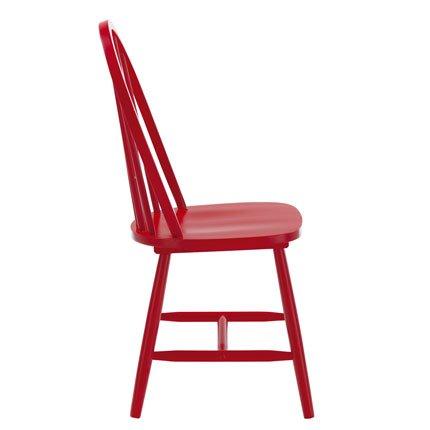chaise de cuisine rouge en bois. Black Bedroom Furniture Sets. Home Design Ideas