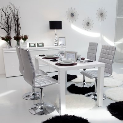 Table blanc salle a manger conforama table de lit - Table salle a manger blanc laque conforama ...