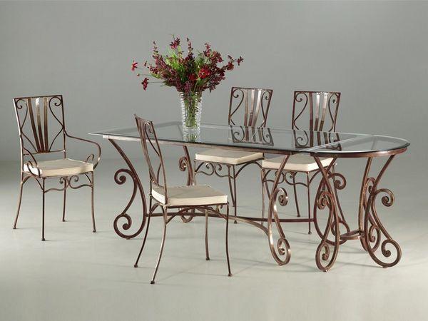 Chaises en fer forge pour salle a manger id es de design for Salle a manger fer forge