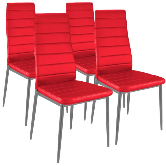 Chaise de salle a manger rouge for Salle a manger rouge