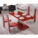 chaise de salle a manger rouge
