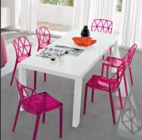 Chaise salle a manger plexiglas for Meuble salle À manger avec chaise salle a manger plexi