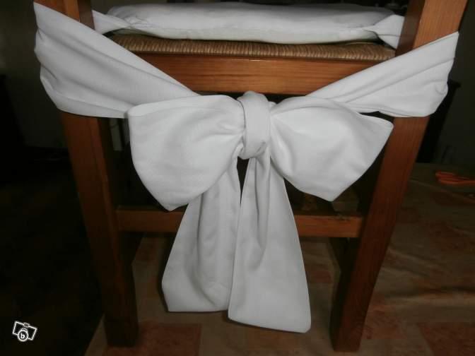 Exemple galette de chaise avec noeud derriere - Faire des galettes de chaises ...