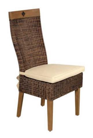 Galette de chaise pour chaise rotin - Modele galette de chaise ...