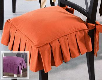 galette de chaise volantee. Black Bedroom Furniture Sets. Home Design Ideas