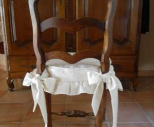galette de chaise volantee