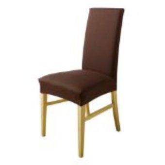 Housse de chaise chocolat - Housse de chaise en cuir ...