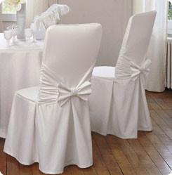 housse de chaise pour mariage en tissu