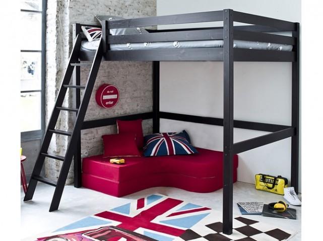 lit deux personnes fly. Black Bedroom Furniture Sets. Home Design Ideas