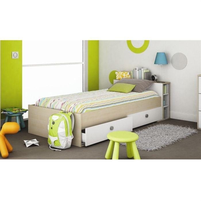 lit une personne 90 x 190. Black Bedroom Furniture Sets. Home Design Ideas