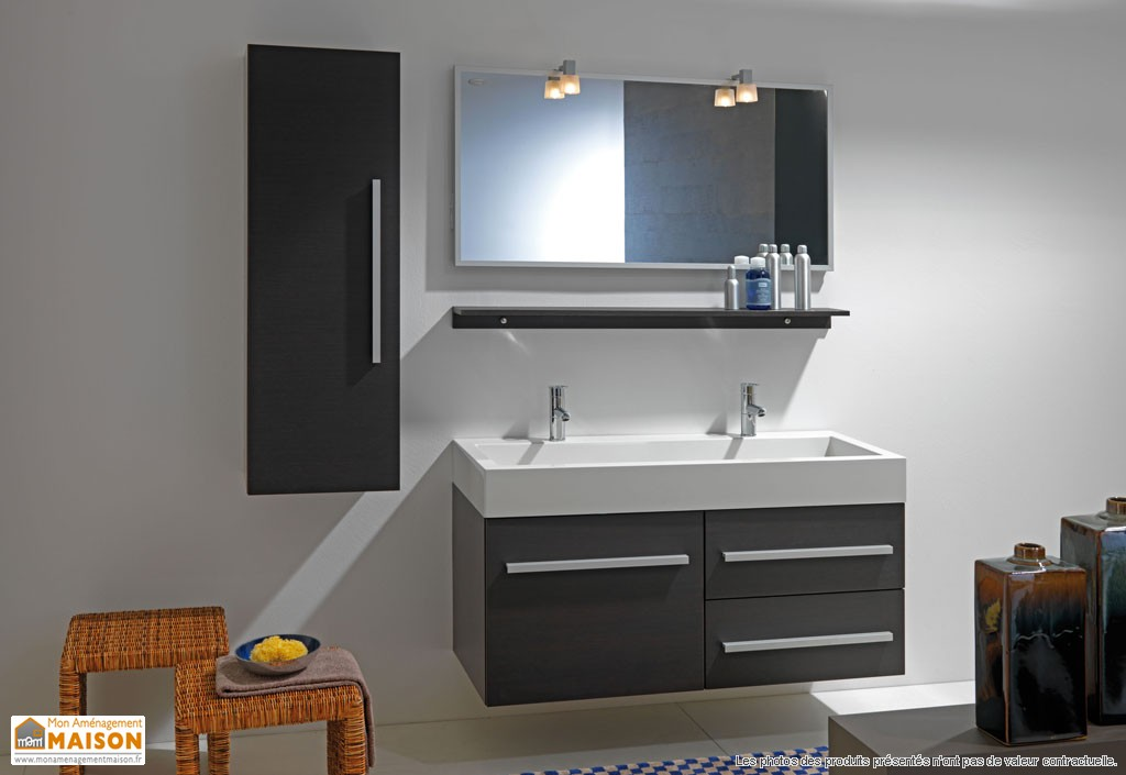 meuble 2 vasques salle de bain. Black Bedroom Furniture Sets. Home Design Ideas