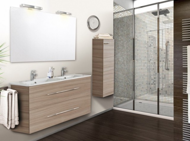 meuble bas salle de bain conforama