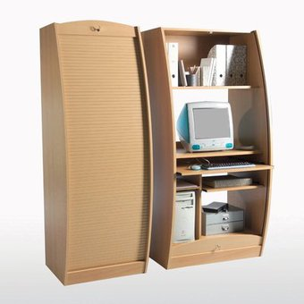 Meuble de bureau ferme for Meuble informatique ferme but