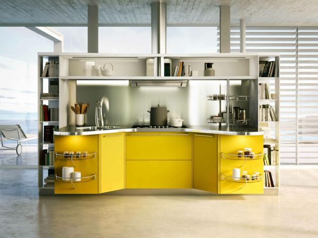 Comparatif meuble de cuisine jaune for Meuble cuisine jaune