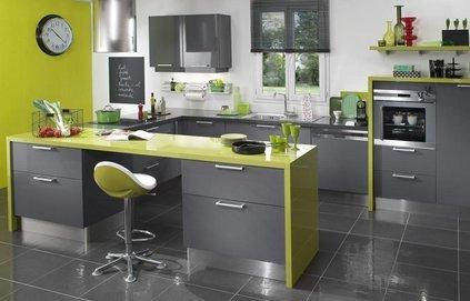 Trouver meuble de cuisine jaune quelle couleur pour les murs for Meuble cuisine jaune
