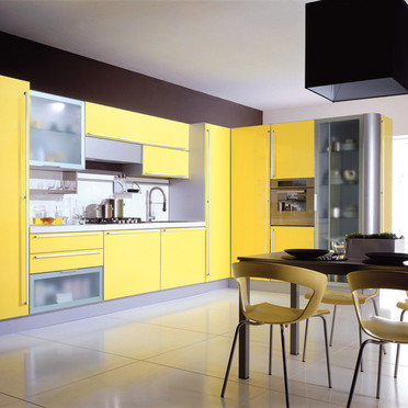 mod le meuble de cuisine jaune quelle couleur pour les murs. Black Bedroom Furniture Sets. Home Design Ideas