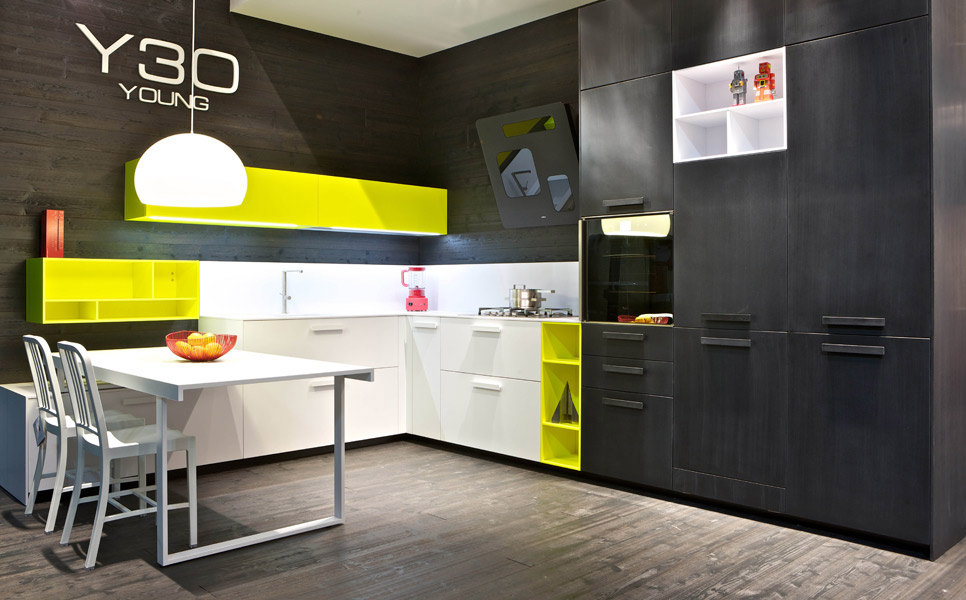 photo meuble de cuisine jaune quelle couleur pour les murs. Black Bedroom Furniture Sets. Home Design Ideas
