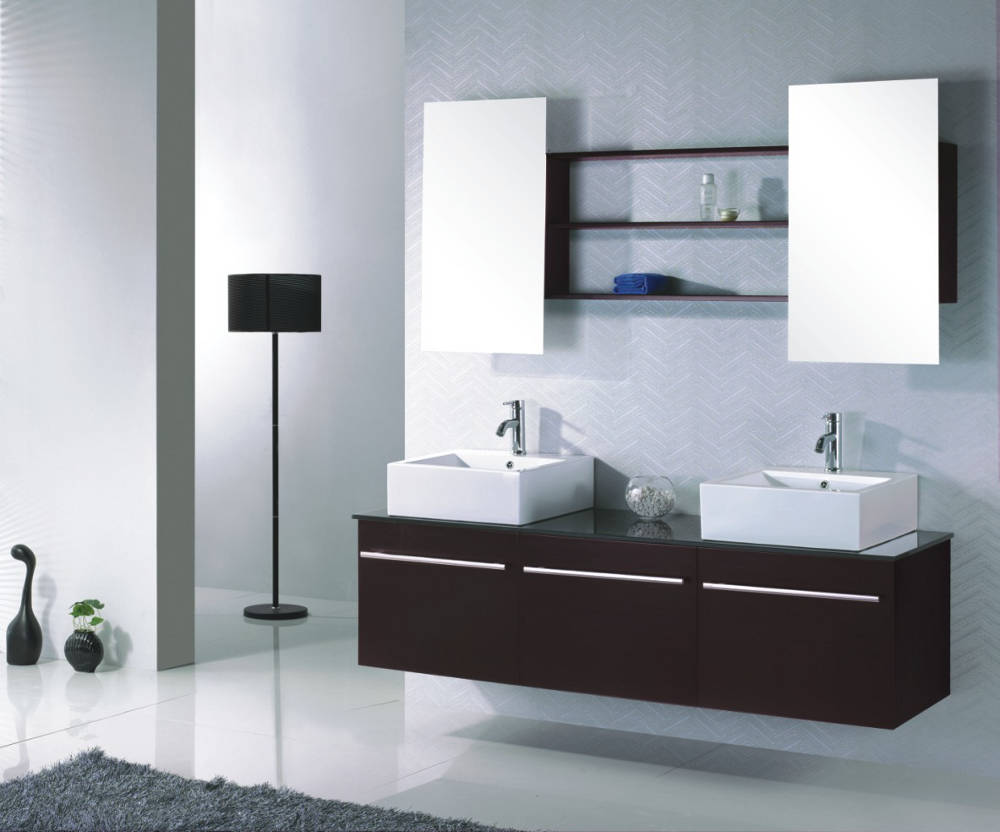 photo meuble haut salle de bain wenge. Black Bedroom Furniture Sets. Home Design Ideas