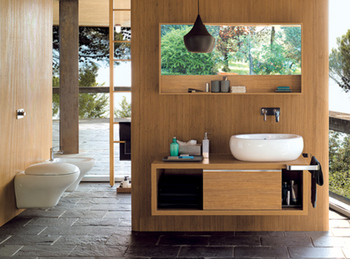 idée meuble salle de bain nature