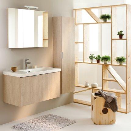 Meuble salle de bain nature - Separation salle de bain ...