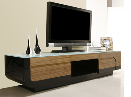photo meuble tv bas long bois. Black Bedroom Furniture Sets. Home Design Ideas