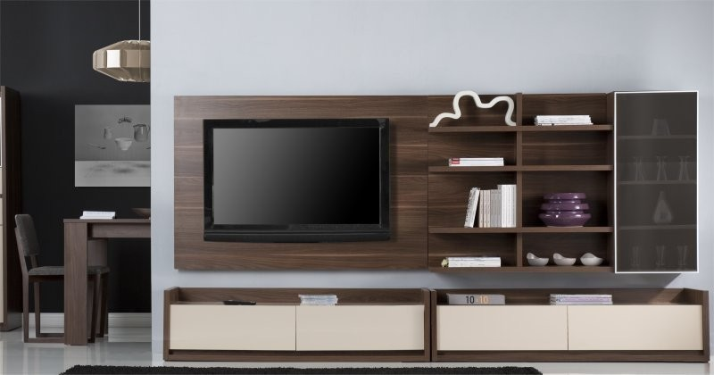 Meuble tv mural bas solutions pour la d coration for Delamaison meuble tv
