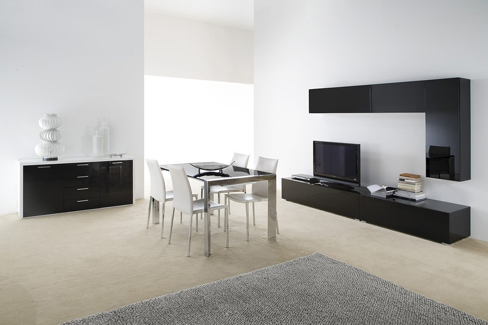 meuble tv bas sur mesure. Black Bedroom Furniture Sets. Home Design Ideas