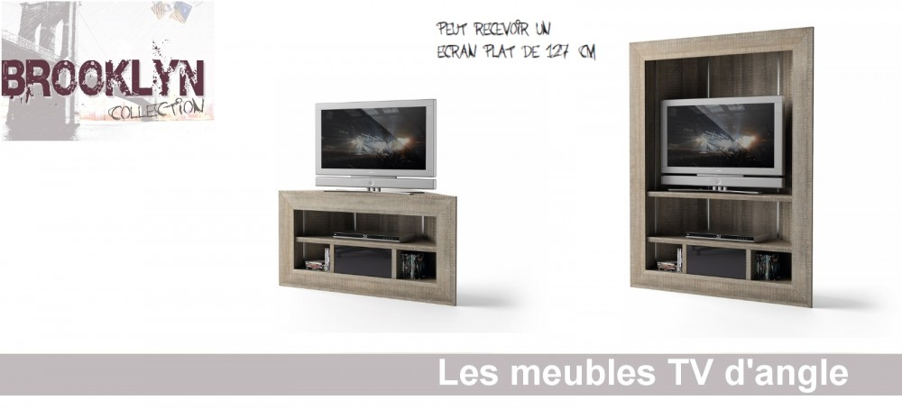 meuble tv angle haut de gamme. Black Bedroom Furniture Sets. Home Design Ideas