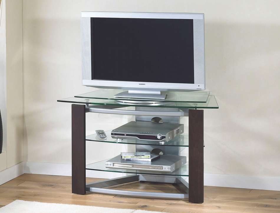 Meuble tv haut verre for Table de television en verre