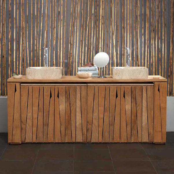 meuble vasque bambou en ligne