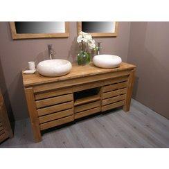 organisation meuble vasque bambou
