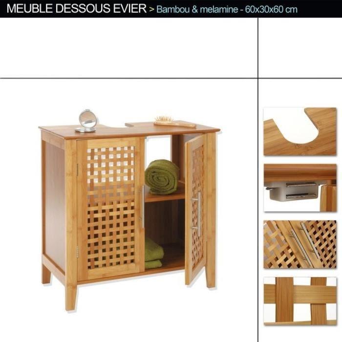 Meuble vasque bambou - Meuble vasque bambou ...