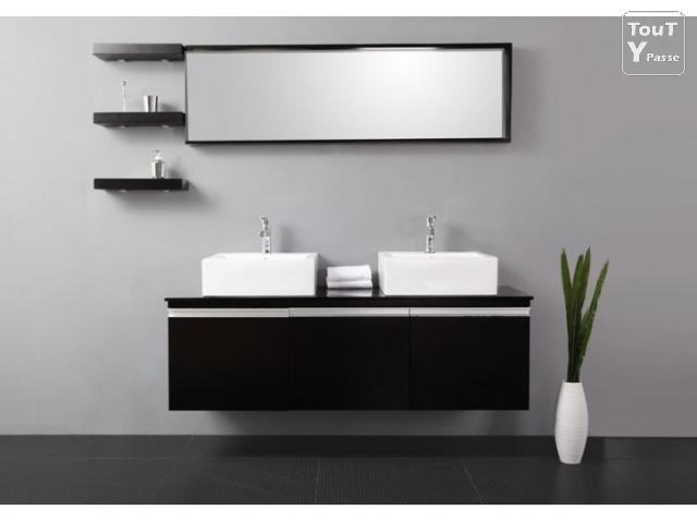 meuble salle de bain double vasque brico depot valdiz. Black Bedroom Furniture Sets. Home Design Ideas