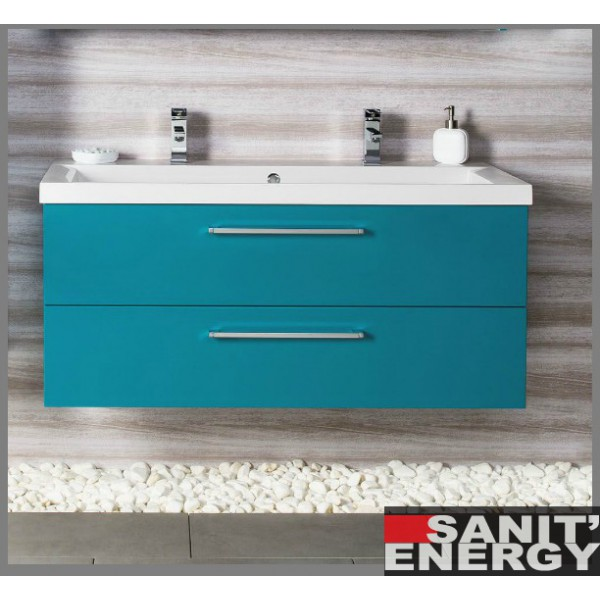 meuble double vasque bleu turquoise meuble de salon contemporain. Black Bedroom Furniture Sets. Home Design Ideas