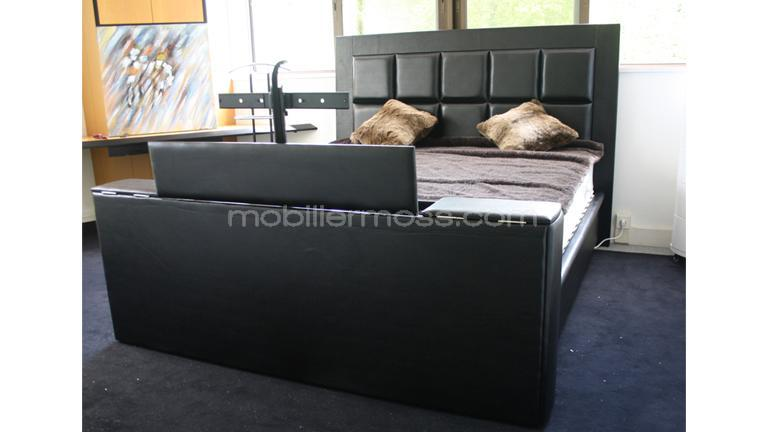 pied de lit tv integre. Black Bedroom Furniture Sets. Home Design Ideas