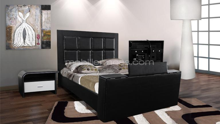 visuel pied de lit tv integre. Black Bedroom Furniture Sets. Home Design Ideas